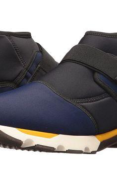 MARNI Mid Ankle Neoprene Sneaker (Blue/Black) Men's Shoes - MARNI, Mid Ankle Neoprene Sneaker, M24WS0025-S47672-963, Footwear Closed General, Closed Footwear, Closed Footwear, Footwear, Shoes, Gift, - Fashion Ideas To Inspire