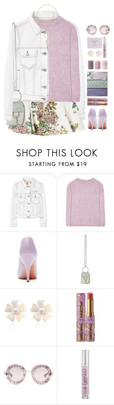 """""""*1842"""" by cutekawaiiandgoodlooking ❤ liked on Polyvore featuring MANGO, Acne Studios, Victoria Beckham, Chloé, Rebecca de Ravenel, tarte, Gucci, Urban Decay and pastelsweaters"""