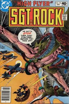 A cover gallery for the comic book Our Army at War Dc Comic Books, Vintage Comic Books, Vintage Comics, Comic Book Covers, Comic Art, Joe Kubert, Rock Cover, Silver Age, Bronze Age
