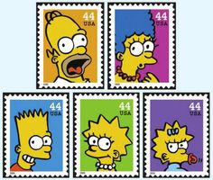 USPS stamps/The Simpsons