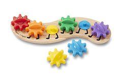Melissa-Doug-Rainbow-Caterpillar-Gear-Toy-With-6-Interchangeable-Gears