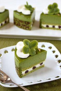 Clover's Green Tea Cake Nanamama-chan | Recipes and recipes for sweets · bread 【corecle * Collector】