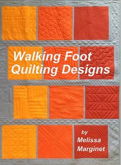 Walking Foot Quilting Designs is a collection of dozens of quilting designs with variations and combinations to give you over 100 ideas for quilting your own quilt on your home sewing machine. More info and to order yours visit Walking Foot Quilting Desig Quilting Stencils, Quilting Templates, Quilting Tutorials, Quilting Tips, Machine Quilting Patterns, Quilt Patterns Free, Quilting Stitch Patterns, Hexagon Quilting, Modern Quilting