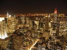 new york city skyline at night - Google Search