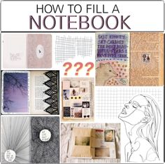 'how to fill a notebook...!' (via Polyvore)
