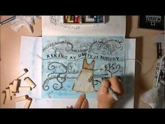 Creative Art Journaling - Dirty Laundry - YouTube