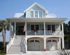 """<ul><li>Only 35' wide, this beach house will fit well on a narrow lot. The 85'5"""" depth includes the stairs. Remove those and the home is 65'3"""" deep.</li><li>Deep porches in front and back are just the spot for relaxing and enjoying the breezes!</li><li>An open floor plan allows all the main rooms to gaze at the views from the rear.</li><li>Homeowners can use the stairs to reach the master suite or take the re..."""