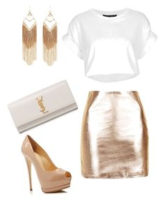 """Untitled #85"" by jimenahh on Polyvore featuring Topshop, Giuseppe Zanotti, Yves Saint Laurent and Panacea"