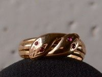 1900s Double Snake Ring