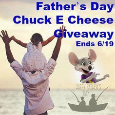 Father's Day Chuck E. Cheese Giveaway   1 Winner will get a Chuck E. Cheese package contained with lots of goodies. This Giveaway is valid in the United States and Canada Only. Entrants must be 18+ years of age to enter. This giveaway event will end at 11:59 PM (EST) 6/19/16.