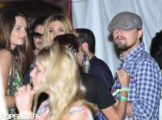 Leonardo DiCaprio was camera shy at Coachella this weekend | More pics here!