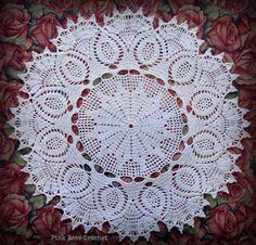 PINK ROSE CROCHET: Centrinho Branco Salfetki