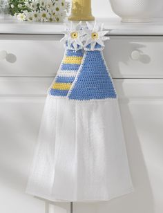 Yarnspirations.com - Lily Towel Toppers - Patterns  | Yarnspirations  Free Crochet Pattern!