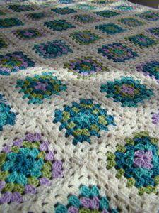 Granny crochet afghan colour love.