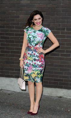Kelly Brook Mini Dress - Kelly Brook Looks - StyleBistro