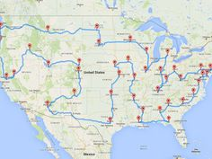 This Man Planned the Most Efficient U.S. Road Trip of All Time | All the state capitols in the Lower 48, in one trip