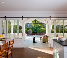 Photo from houzz app, lovely sliding doors that lead to the outdoor area