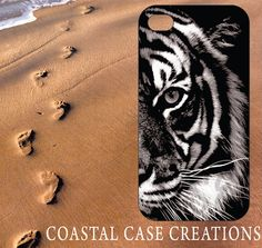 Apple iPhone 4 4G 4S 5G Hard Plastic Cell Phone Case Cover Original Trendy Stylish Black and White Tiger Face Design on Etsy, $16.00