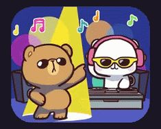 With Tenor, maker of GIF Keyboard, add popular Milk Mocha Bear animated GIFs to your conversations. Share the best GIFs now >>> Cute Cartoon Images, Cute Couple Cartoon, Cute Love Cartoons, Cute Love Gif, Cute Love Pictures, Cute Cat Gif, Chibi Cat, Cute Chibi, Dancing Animated Gif
