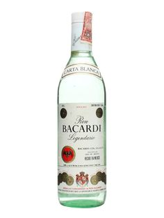 Bacardi Legendario (Mexico) Rum / Bot.1970s. An old bottle of Bacardi Carta Blanca rum. This appears to have been bottled during the 1970s and was made at their distillery in Mexico.