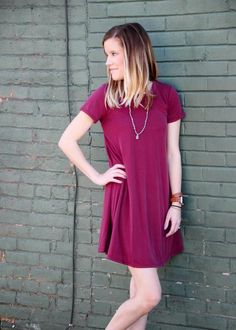Our Raspberry Tea Dress is as refreshing as a spring day. Super comfortable, lightweight knit but not too sheer. It can be worn as a dress if you're not too tall, but even then it will look great with