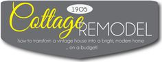 How to transform a vintage house into a bright, modern home on a budget! www.tatertotsandjello.com