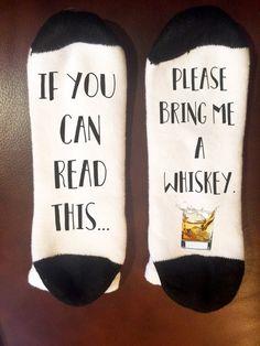 Wenn Sie dies lesen können bringt mir ein Whiskey Socken | Wenn Sie lesen können, diese Socken | lustige Weihnachts-Geschenk | Stocking Stuffer | Whisky-Socken
