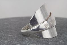 Chunky Spoon ring  vintage spoon ring  by AmySquaredJewellery