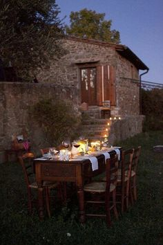 Dinner at the 18th century farmhouse at The Podere Ciona Estate & Vineyards in Chianti, Tuscany, Italy.... the original and oldest part of Tuscany's Chianti wine-growing region...