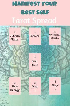 Manifest Your Best Self Tarot SpreadYou can find Tarot spreads and more on our website.Manifest Your Best Self Tarot Spread Tarot Cards For Beginners, Tarot Card Spreads, Tarot Astrology, Oracle Tarot, Tarot Card Meanings, After Life, Psychic Readings, Card Reading, Book Of Shadows