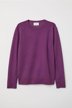 e3fe8860642e Silk-blend Sweatshirt - Purple melange - Men