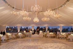 Gorgeous tent reception