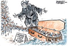 Migrant Cruise Lines © Jeff Koterba,Omaha World Herald, NE,syria boy drowning,migrant,refugee,syria