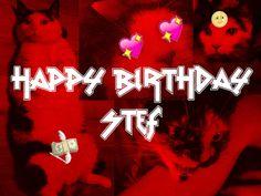 A birthday card for Stef via HAPPY BIRTHDAY STEF! LOVE, A+ AND THE INTERNET by Nani A