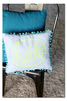 How to make a pom pom hello pillow by MichaelsMakers Sugar Bee Crafts