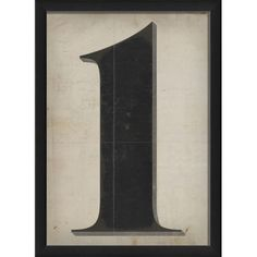 Number One Framed Textual Art