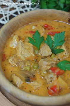 Polish Recipes, Soups And Stews, Thai Red Curry, Soup Recipes, Chili, Food And Drink, Ethnic Recipes, Kitchen, Indie