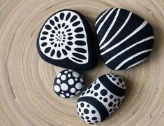 Rock Painting Ideas Fine White Details