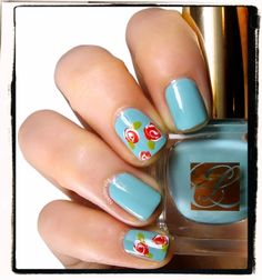 Roses - easy to do - see my board on Nail polish tutorials/education for simply how to directions