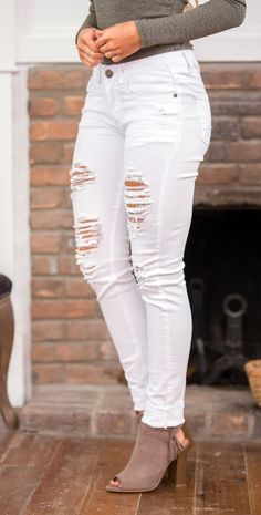 how to style white skinny jeans outfits