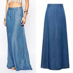 Resultado de imagen para de jean a falda larga