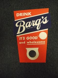 Vintage Barqs Root Beer Bottle topper Advertising-Soda