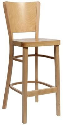 """Parker"" Traditional Timber Bar Stool 76cm in Natural - AU$269 – https://www.simplybarstools.com.au/products/parker-traditional-timber-bar-stool-76cm-in-natural - Simply Bar Stools - handmade, fixed leg, wooden bar stools. #Australia #Furniture"