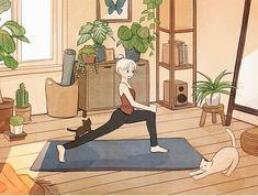 Cute Cartoon Wallpapers, Animes Wallpapers, Aesthetic Art, Aesthetic Anime, Arte Indie, Anime Scenery Wallpaper, Kawaii Wallpaper, Cartoon Art Styles, Cute Illustration