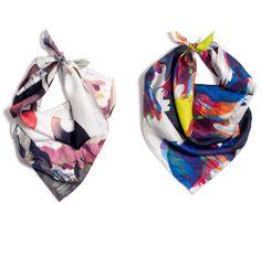 Mandrake & Yoyo foulard (scarf) via Petite Friture, painting by Qubo Gas #watercolour #fashion