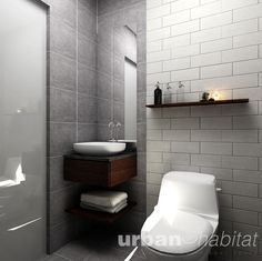 small bathroom with accent wall of blue mosaic tile. Black Bedroom Furniture Sets. Home Design Ideas