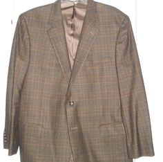 JOS A BANKS Signature Collection Brown Plaid Sports Jacket (NWOT) #JosABanksSignatureCollection #TwoButton