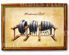 Antique Mechanical Bell Musical Instrument instant by OldiesPixel