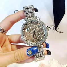 Women Big Diamond Bracelet Watches!Luxury Crystal Women Bracelet Watch Female Mashali Dress Watch Ladies Rhinestone Wristwatches Oh just take a look at this! Visit our store