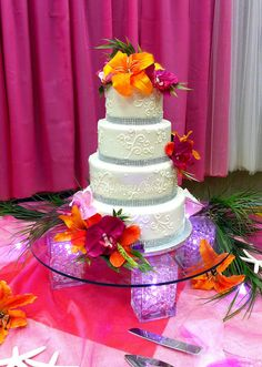 tropical weddings | Tropical Wedding Cake | Flickr - Photo Sharing!